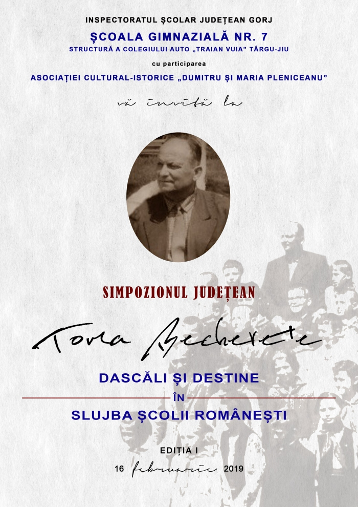 Afis Simpozionul Judetean Toma Becherete