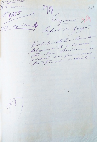 Raspuns la Telegrama D Pleniceanu
