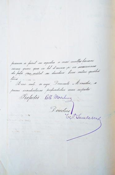 Verso Adresa raspuns Telegrama D Pleniceanu Moscuna